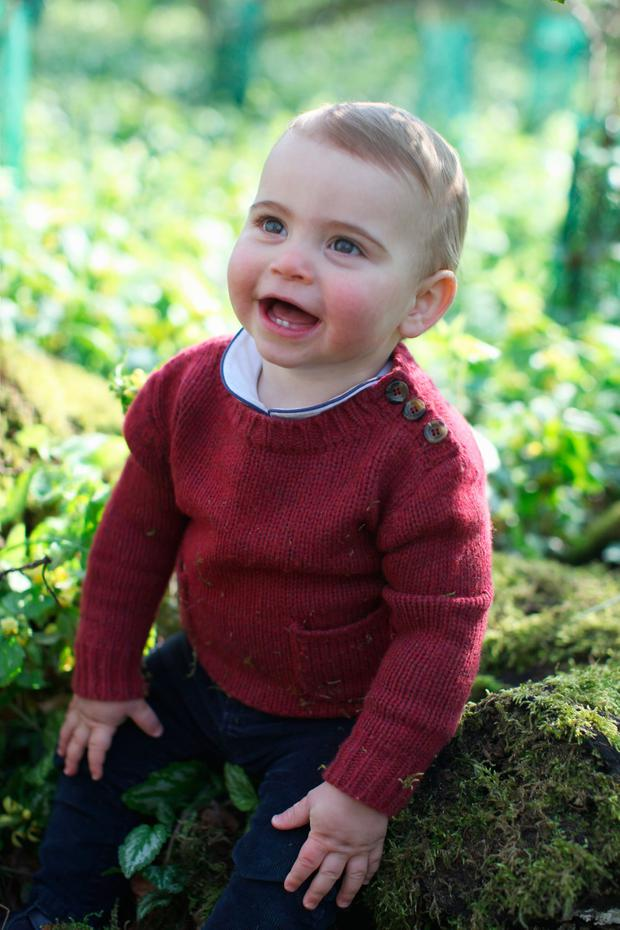 19: In this undated handout image released by the Duchess of Cambridge, Prince Louis taken by his mother, the Duchess of Cambridge, at their home in Norfolk earlier this month, to mark his first birthday.