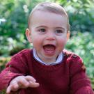 In this undated handout image released by the Duchess of Cambridge, Prince Louis taken by his mother, the Duchess of Cambridge, at their home in Norfolk earlier this month, to mark his first birthday.