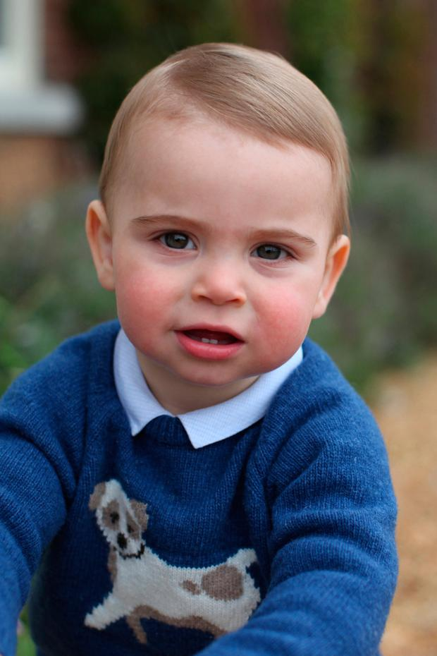 n this undated handout image released by the Duchess of Cambridge, Prince Louis taken by his mother, the Duchess of Cambridge, at their home in Norfolk earlier this month, to mark his first birthday.