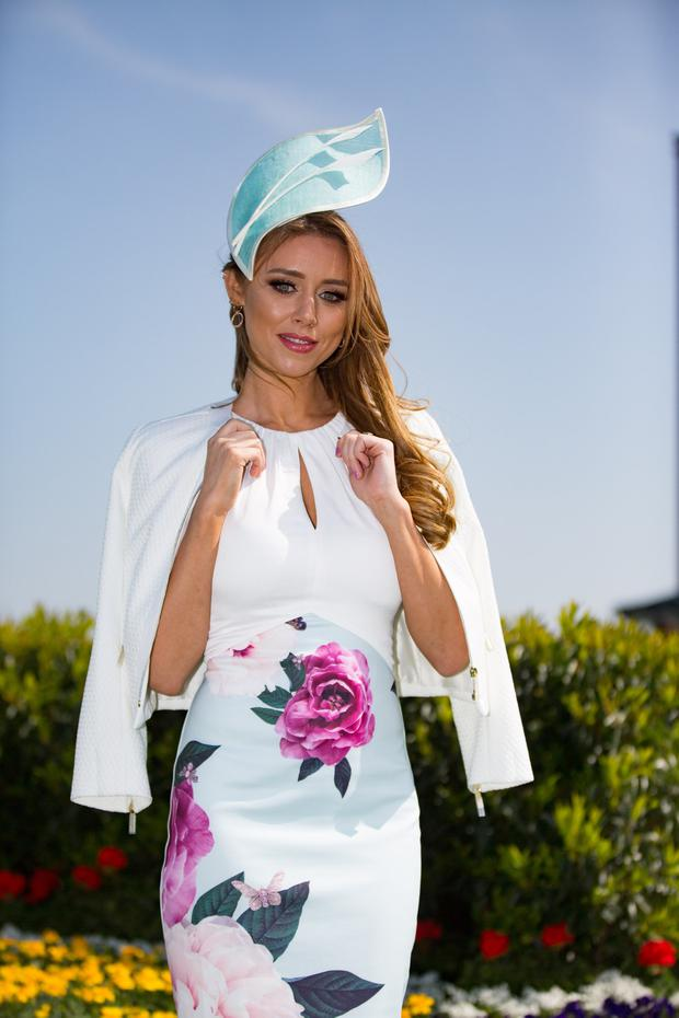 Una Healy enjoying the 2019 Fairyhouse Irish Grand National on Easter Mionday. Pic:Mark Condren 22.4.2019