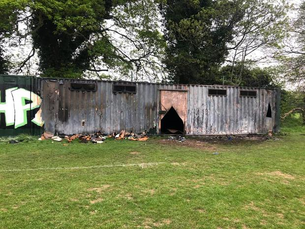 Gardaí are investigating the fire at Lucan's Beechpark Football Club in Griffeen Valley Park (Photo: Beechpark FC)