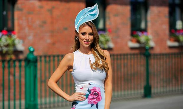 Una Healy pictured at the Dunboyne Castle Most Stylish Lady event at Fairyhouse Racecourse. Picture: Gareth Chaney/Collins