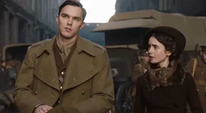 Nicholas Hoult and Lily Collins as Tolkien and his wife Edith in the Fox Searchlight film Tolkien