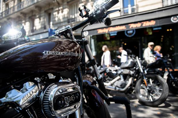 A Harley-Davidson motorcycle. Photographer: Christophe Morin/Bloomberg