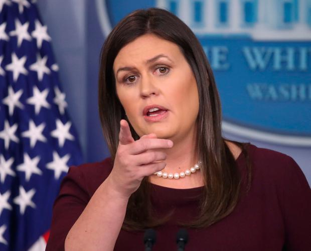 Lost credibility: White House press secretary Sarah Sanders. Photo by Mark Wilson/Getty Images
