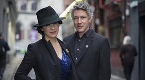 Star turn: Aidan Gillen and Camille O'Sullivan at the Rock Against Homelessness concert. Picture: Arthur Carron