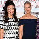 Doireann Garrihy, Aoibhin Garrihy and Ailbhe Garrihy at the Peter Mark VIP Style Awards 2018 at The Marker Hotel, Dublin