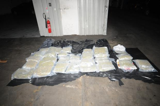 Cocaine and cannabis herb with an estimated street value of €715,000 were seized. Photo: An Garda Siochana