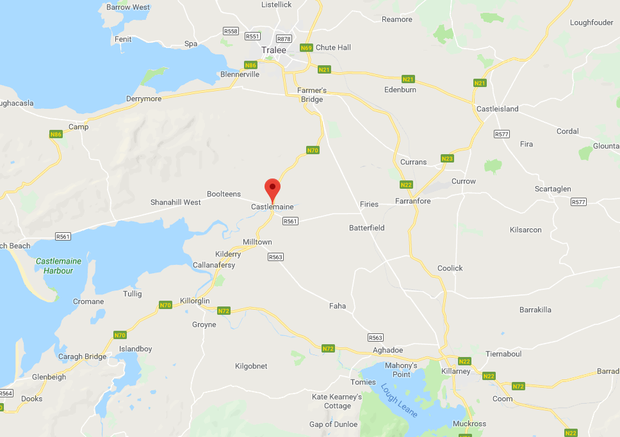 The accident occurred near Castlemaine, Co Kerry. Image: Google Maps