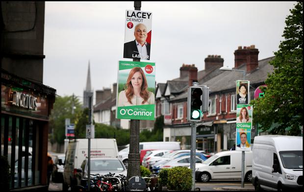 Election posters in Ranelagh. Pic Steve Humphreys 24th April 2019
