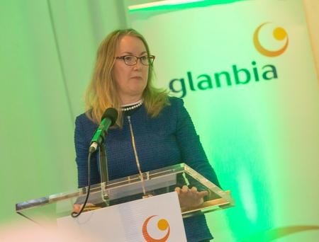 Siobhan Talbot, Glanbia Group Managing Director during before the Glanbia AGM at Lyrath Estate Hotel in Kilkenny. Picture: Pat Moore