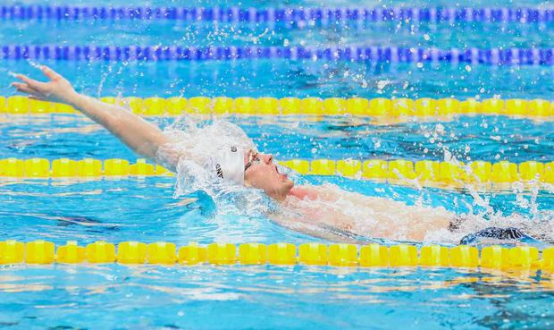 Shane Ryan in action for Ireland. Photo credit: David Kiberd for Swim Ireland.