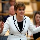 First Minister of Scotland Nicola Sturgeon issues a statement on Brexit and independence Photo credit: Andrew Cowan/Scottish Parliament/PA Wire