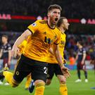 Wolverhampton Wanderers' Matt Doherty celebrates scoring their second goal REUTERS/Eddie Keogh
