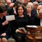 DUP leader Arlene Foster sits with Sinn Féin's Mary Lou McDonald and Michelle O'Neill. Photo: Brian Lawless/PA Wire