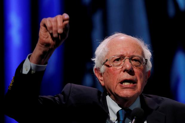 Bernie Sanders, one of the more left-wing Democrat presidential candidates. Photo: REUTERS/Carlos Barria/File Photo