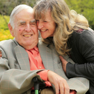 Máire-Anne Doyle with her father Brian, who has dementia