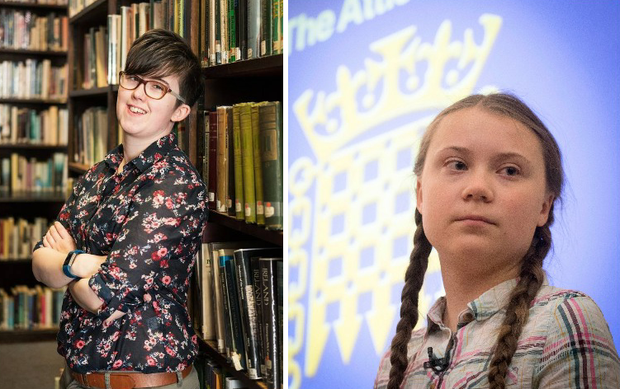 Lyra McKee, left, and Greta Thunberg, right.