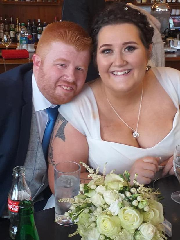 Tina Potts (40), from Newtownmountkennedy in Co Wicklow, with her husband Johnny Harris
