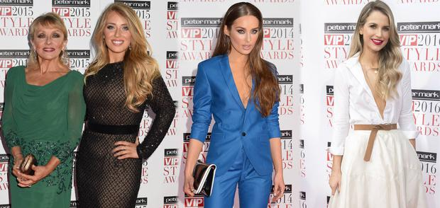 (L to R) Twink and daughter Chloe Agnew in 2015, Roz Purcell in 2014 and Vogue Williams in 2016