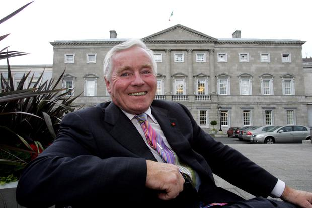 People person: Senator and businessman Feargal Quinn outside Leinster House in 2005. Photo: Tom Burke