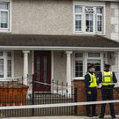 Gun attack: Gardaí at the scene of the man's shooting at Hardman's Gardens, Drogheda, yesterday. Photo: Douglas O'Connor