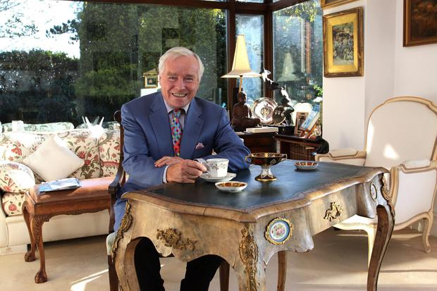 At home: Feargal Quinn was a family man, with five children and 19 grand-children. Photo: Martin Maher