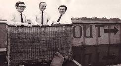 From left to right, Paul Ennis, Malcolm Brighton and the late Feargal Quinn