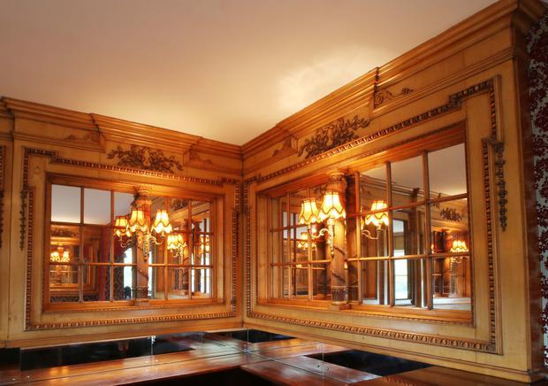 Making waves at auction: Carvings which made up part of the Britannic's second-class lounge could sell for between €200,000-€300,000 at auction