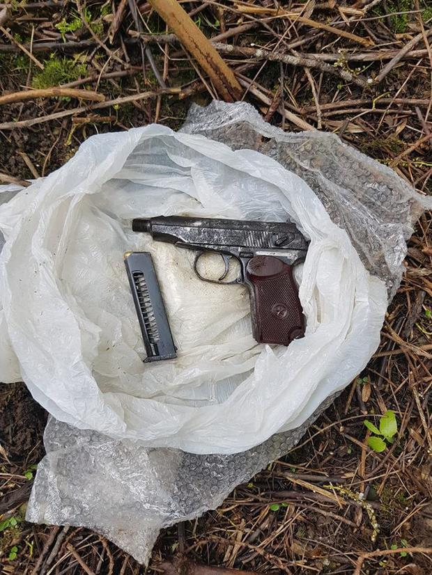 This gun and ammunition was found near the scene of a shooting in Riversdale College