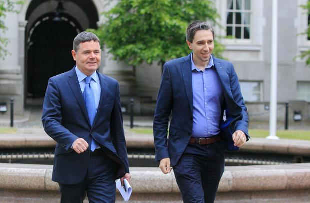 Pressure: Ministers Paschal Donohoe and Simon Harris. Picture: Collins