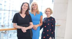Broadcasters Katie Hannon and Miriam O'Callaghan with Anne O'Leary of Vodafone