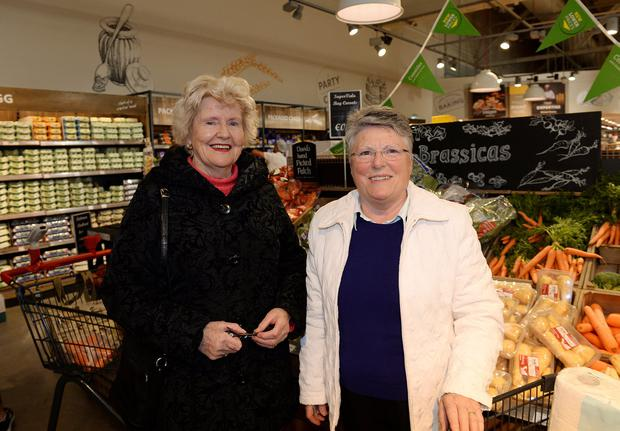 Sheila Smith, left, and Frances O'Shea, from Sutton, at SuperValu in Sutton, formerly Superquinn. Picture: Caroline Quinn