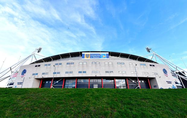 University of Bolton Stadium. Photo credit: Dave Howarth/PA Wire.