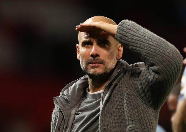 Manchester City manager Pep Guardiola. Action Images via Reuters/Carl Recine