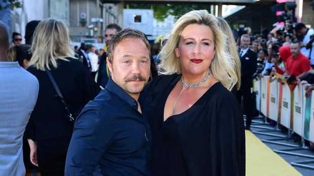 Stephen Graham (left) and Hannah Walters (Ian West/PA)