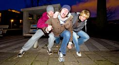 FERAL teens: There has been a rise in 'disorderly conduct', which takes in public-order offences. Stock picture