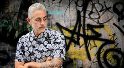 SLIGHTLY CAMP CHARM: Baz Ashmawy has revealed that he was determined to succeed after being told he didn't have a future in television. Photo: Gerry Mooney