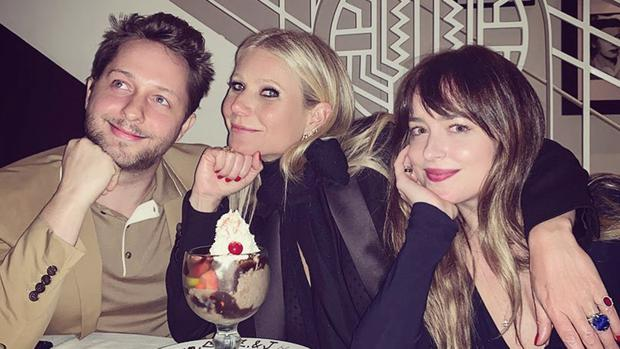 CONSCIOUS THROUPLING: Derek Blasberg, Gwyneth Paltrow and Dakota Johnson share a sundae — which is probably the second most surprising thing about this Instagrammed picture