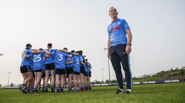 Mickey Linden at training with the Mayobridge minor team: 'I like players to go and express themselves. Which we would try to do with the minors. I loathe to have to play sweepers or any of that stuff.' Photo: Kyran O'Brien
