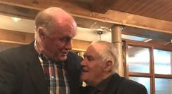 Pat Delaney and Fan Larkin catch up on old times