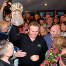 2009 Irish Open Champion Shane Lowry on his return to his local club Esker Hills. Photo: Sportsfile