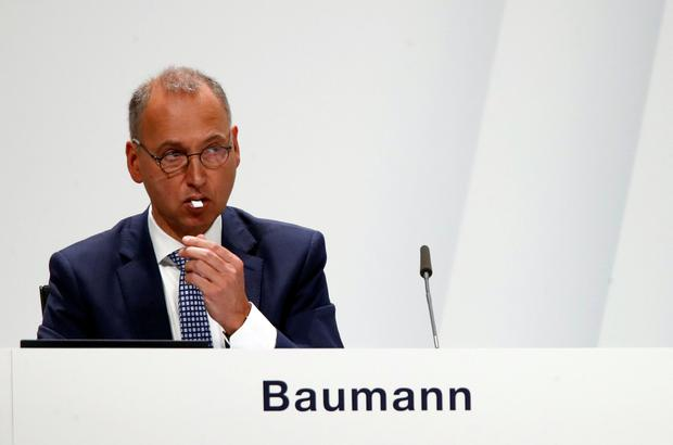 Werner Baumann, CEO of German pharmaceutical and chemical maker Bayer AG, attends the annual general shareholders meeting in Bonn, Germany. Photo: REUTERS/Wolfgang Rattay