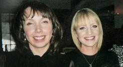 Clodagh Hawe with her sister Jacqueline Connolly