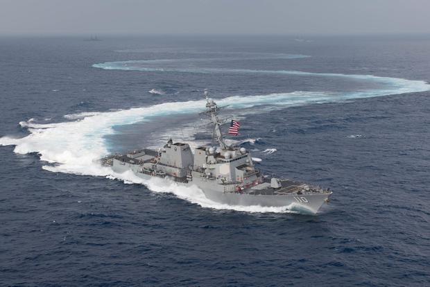US Warships Sail Through Taiwan Strait, Defense Ministry Says