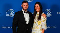 Robbie Henshaw and Sophie Marren at the Leinster Rugby Awards Ball. Picture: Ramsey Cardy/Sportsfile