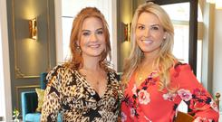 Danielle and Michelle McGill at the launch party of Elle's Bar at the Iveagh Garden Hotel, Harcourt Street. Picture: Leon Farrell/Photocall Ireland