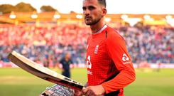 Alex Hales has been withdrawn from all England squads