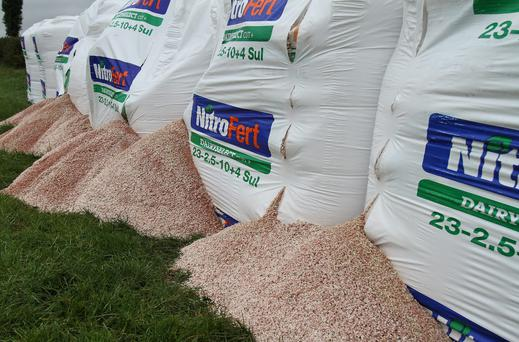 Much of the fertiliser was unable to be used due to heavy rain.