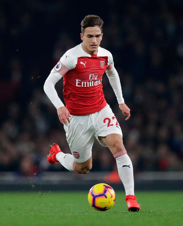 Arsenal midfielder Denis Suarez has announced he will not play again this season due to a groin injury. Adam Davy/PA Wire.